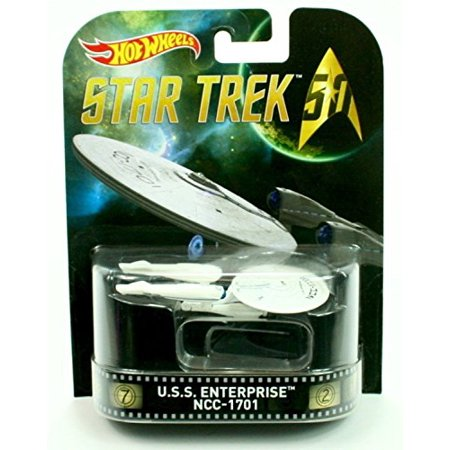 U.S.S. ENTERPRISE NCC-1701 * STAR TREK * Hot Wheels 2016 Retro Series 1:64 Scale Collectible Die Cast Metal Toy Car Model