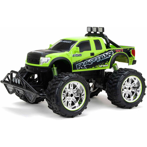 New Bright 110 Radio Control Ford Raptor Truck Black/Green  sc 1 st  Walmart : ford raptor remote control car - markmcfarlin.com
