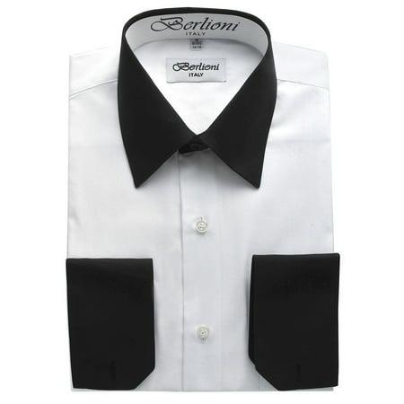 Pink Tourmaline Mens Ring - Men's Two Tone Dress Shirt