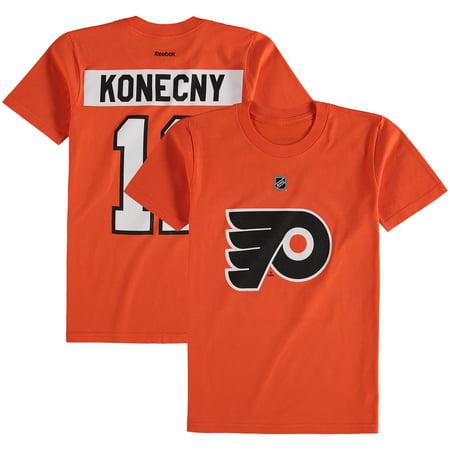 online retailer 16843 c9ebb Travis Konecny Philadelphia Flyers Reebok Youth Name & Number T-Shirt -  Orange - Yth S