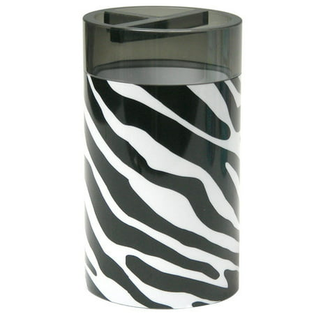 your zone zebra decorative bath collection - toothbrush holder