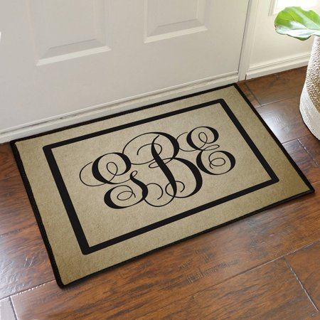 "Custom Monogram Design Doormat, 19.5"" x 15.5"""