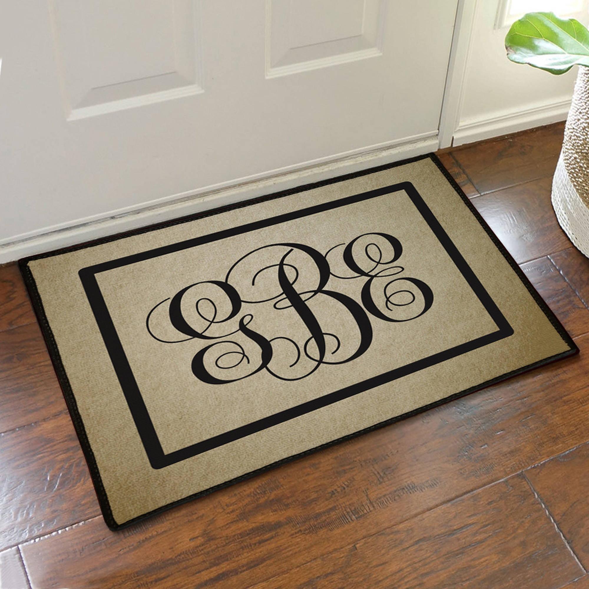 "Custom Monogram Design Doormat, 19.5"" x 15.5"""