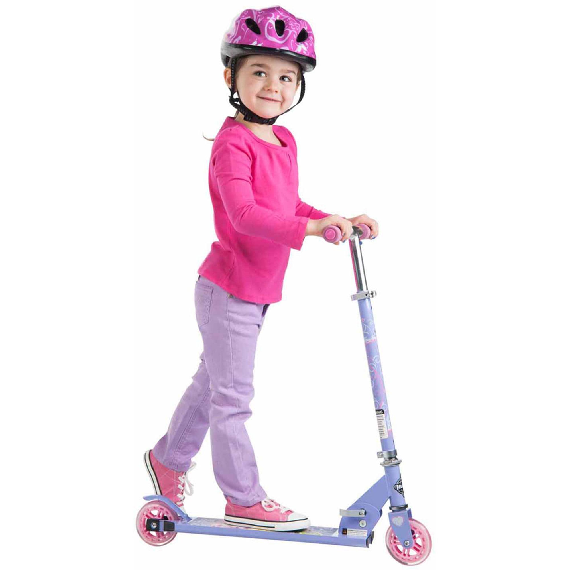 Disney Princess Huffy Inline Folding Kick Scooter, Pink