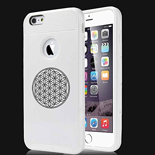 Apple iPhone 5 5s Shockproof Impact Hard Case Cover Flower Of Life (White),MIP