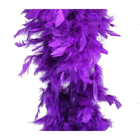 Purple Feather Boa (6', 60 grams) - Mardi Gras Feather Boas