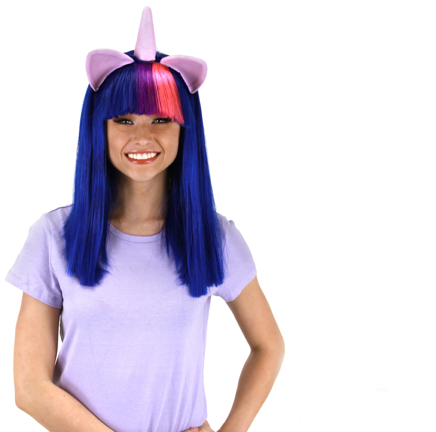 My Little Pony Twilight Sparkle Adult Costume Wig W/Ears & Horn