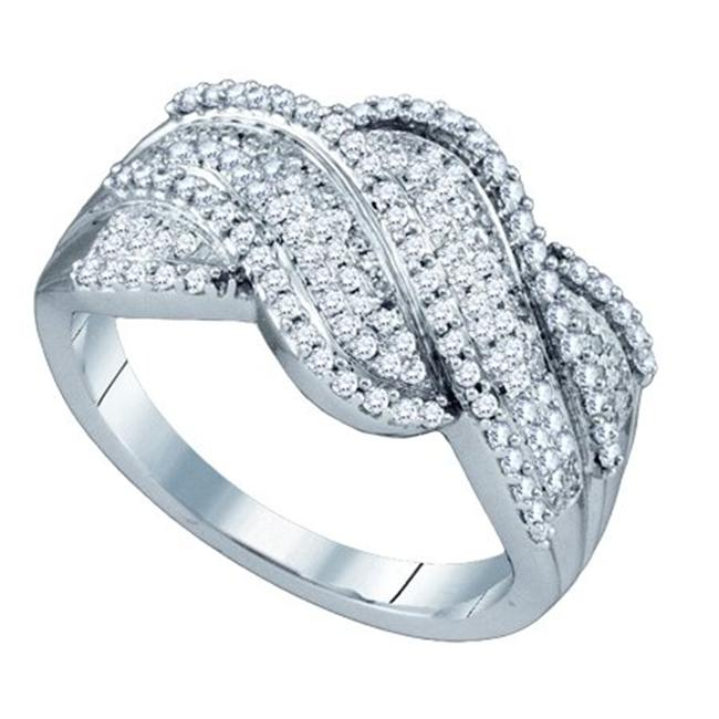 Gold and Diamonds RF6046-W 0.50CT-DIA MICRO-PAVE BAND- Si...