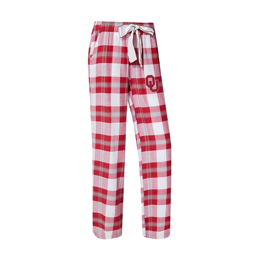 University of Oklahoma Sooners Women's Flannel Pajamas Plaid PJ Bottoms