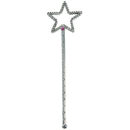 Costume Fairy Princess Queen Silver Magic Star Wand Scepter - Princess And Queen Halloween Costumes