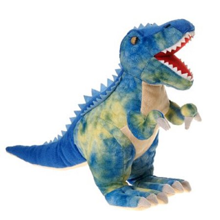 Fiesta ToysTyrannosaurus Blue T-Rex Dinosaur 15'' Inches My Rex Dino Stuffed Plush Animal Pet](Fiesta Stuffed Animals)