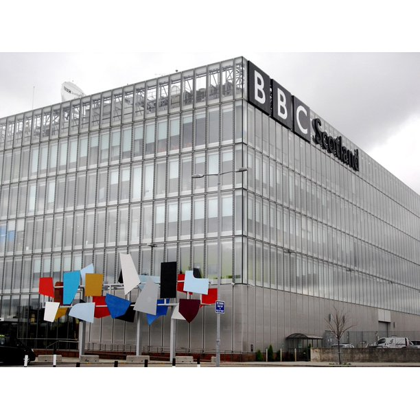 BBC Office Glasgow Scotland-11 Inch By 17 Inch Laminated