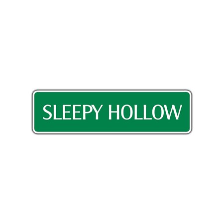 Sleepy Hallow Halloween (Sleepy Hollow Halloween Aluminum Metal Novelty Street Sign Wall Décor Gift)
