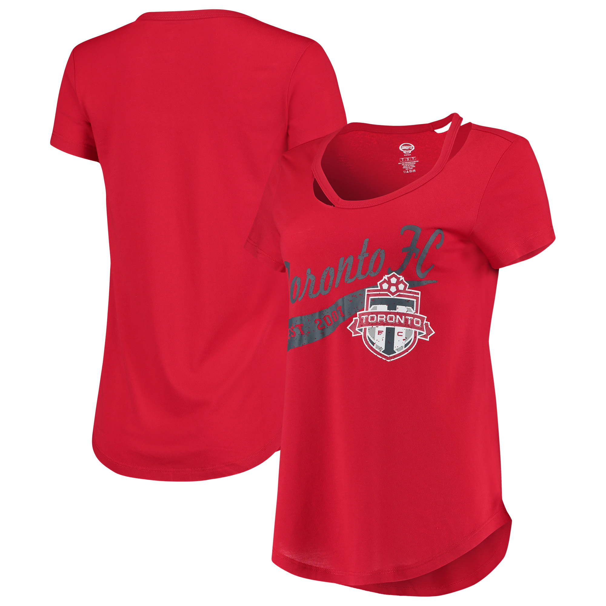 Toronto FC Concepts Sport Women's Squad Cut Neck T-Shirt - Red