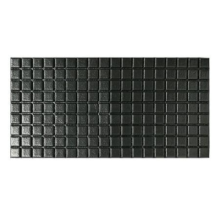 Art3d Peel and Stick Mosaic Tiles PVC Foam 3D Wall Panels, Black (12 Pack) ()