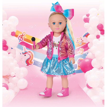My Life As JoJo Siwa Doll, 18-inch Soft Torso Doll with Blonde Hair, Dance Party 2019 ()