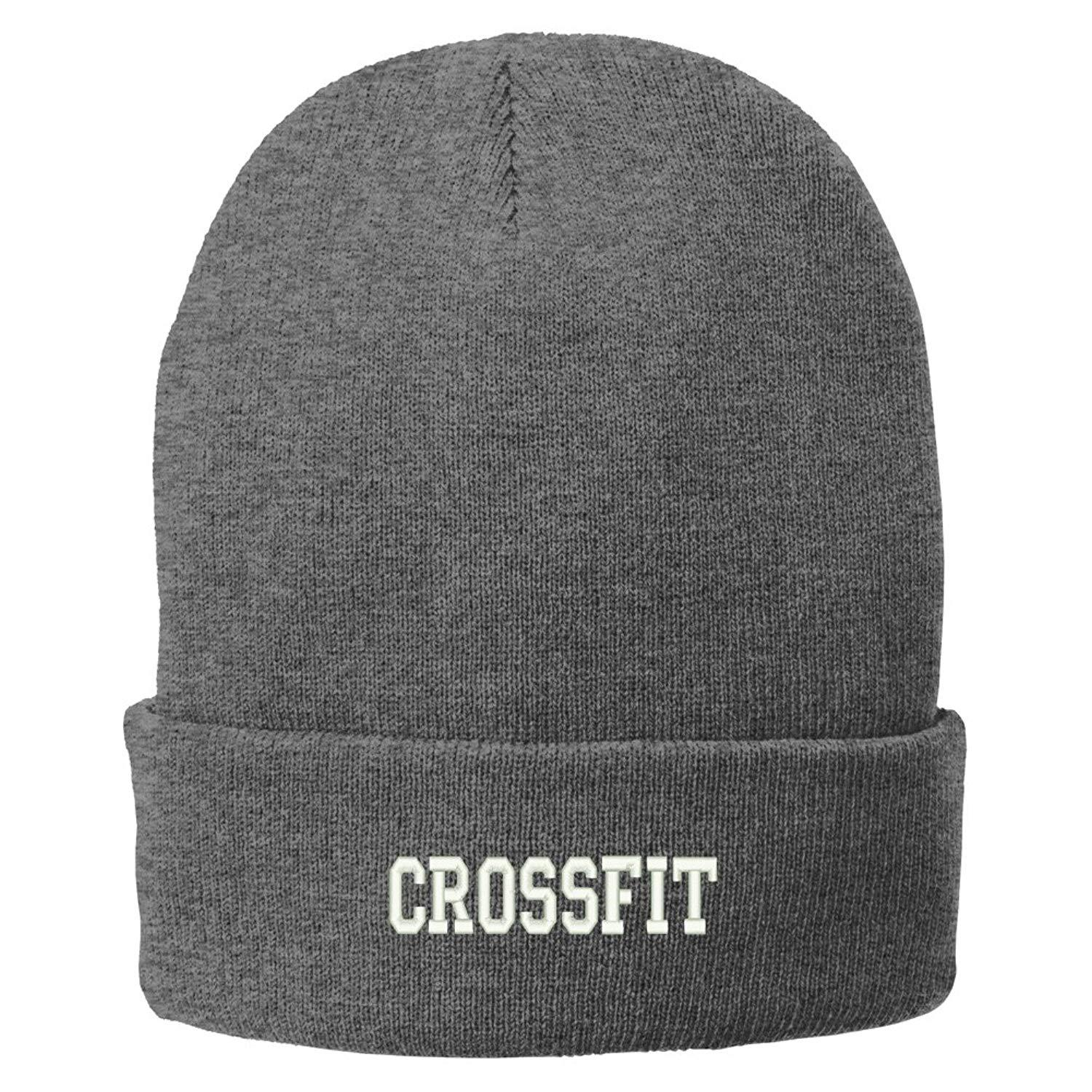 3cee29b7f75 Trendy Apparel Shop Crossfit College Font Embroidered Winter Knitted Long  Beanie - Walmart.com