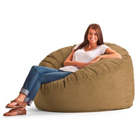 Amazing Original Fuf Chair 5 Ft King Wide Wale Corduroy Bean Bag Sofa Coffee Beatyapartments Chair Design Images Beatyapartmentscom