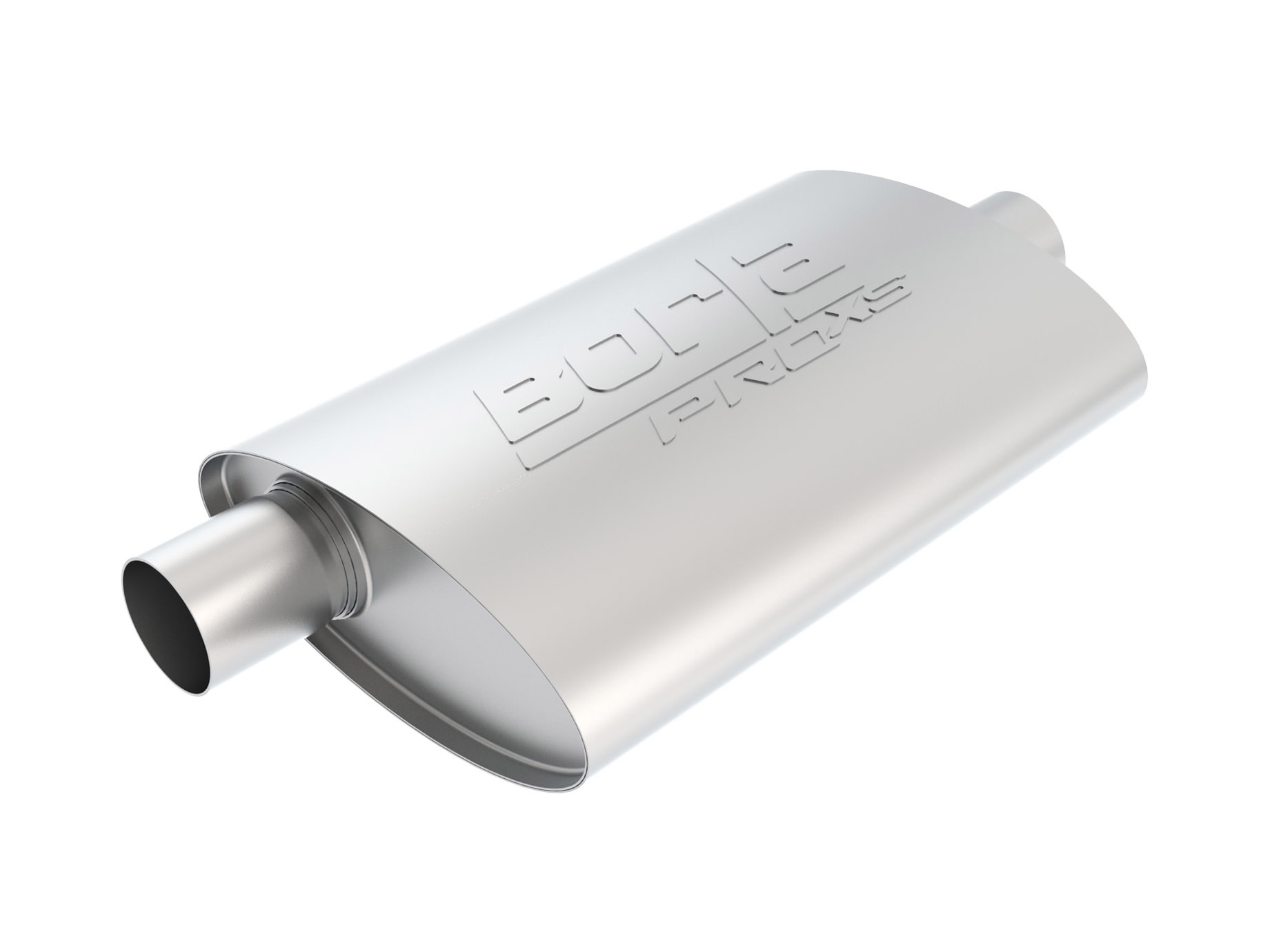Borla 40670 3in Inlet//Dual 2.25in Outlet Center//Dual Oval ProXS Muffler