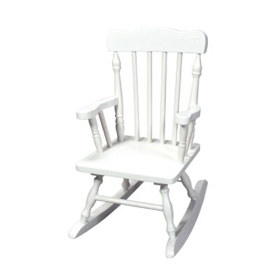 Childs Spindle Rocking Chair Color:White