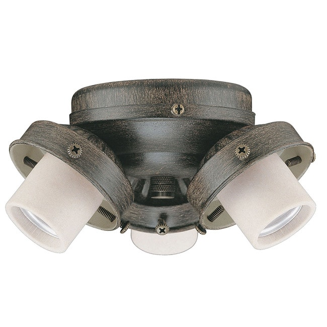 Luminance Three-Light 60-Watt Aged Pecan Ceiling Fan Light Kit