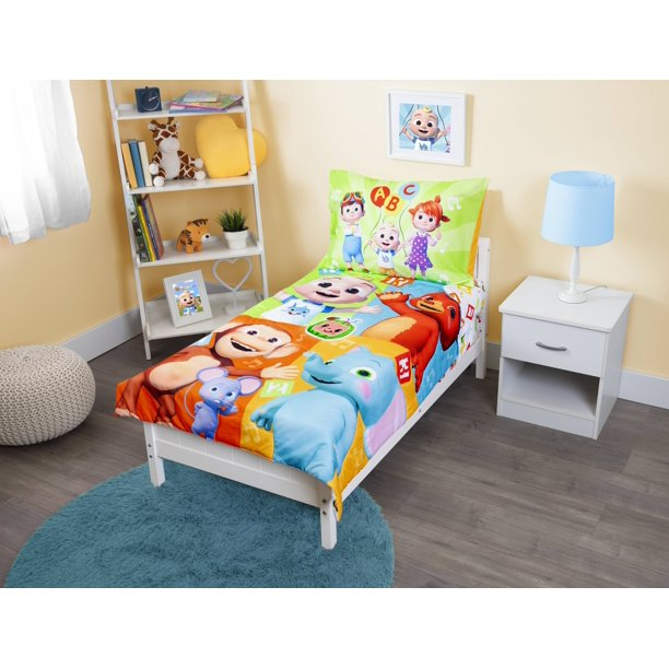 cocomelon 4piece toddler bedding set  walmart