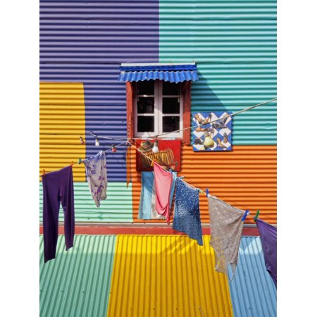 Argentina, Buenos Aires Province, City of Buenos Aires, La Boca, View of Colourful Caminito. Print Wall Art By Karol - Party City Boca