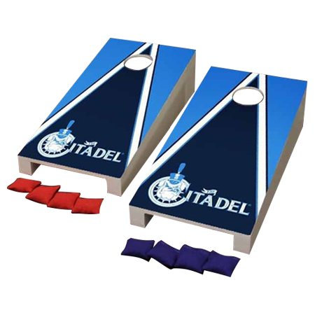 - Citadel Bulldogs Desktop Triangle Cornhole Game Set - No Size