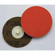 3M 00051144836956 Locking Disc, CerAlO, 4in, 120Grit, TR, PK100
