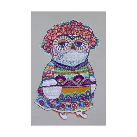 Mexican Folk Owl Print Wall Art By Oxana Zaika