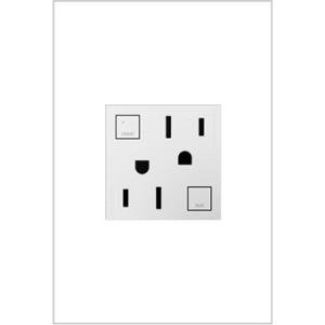 On-Q/Legrand GFCI Outlet, 15A, Magnesium - 2 x AC - 15 A