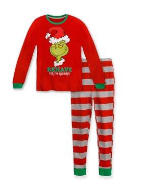 Dr Seuss Kid, You'll Move Mountains Boys Cotton Pajama Set, Grinch, Size: 10