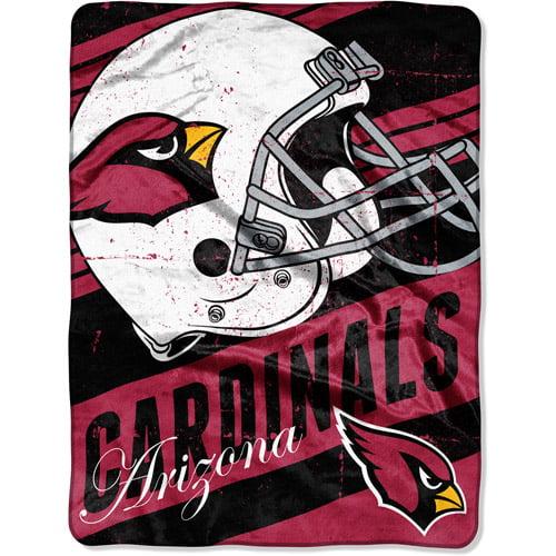 "NFL Micro Raschel Deep Slant 50"" x 60"" Throw, Arizona Cardinals"