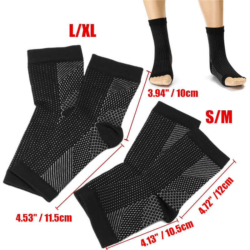 1-4 Pair(s) Unisex Foot Angel Ankle Sleeve Socks Anti Fatigue Compression Swelling Relief Socks