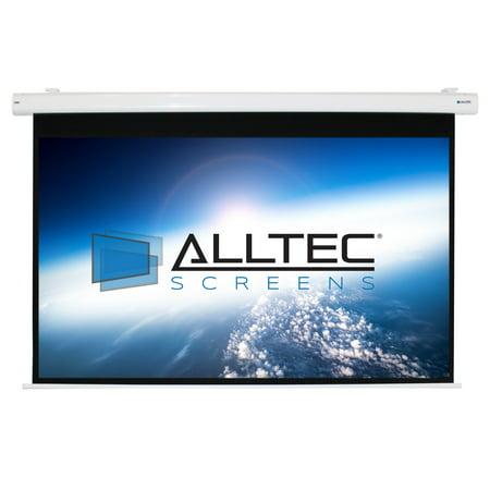 "Alltec 92"" Diag. (45x80) Electric Projector Screen, HDTV Format, Matte White Fabric"