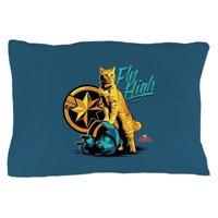 """CafePress - Captain Marvel Goose The Cat - Standard Size Pillow Case, 20""""x30"""" Pillow Cover, Unique Pillow Slip"""