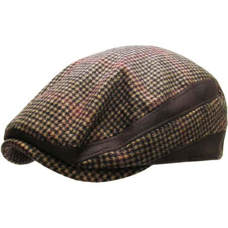 Wool V-neck Golf - Wool Blend Plaid Ivy Hat Golf Driving Ascot Winter Flat Cabbie Newsboy Debonair