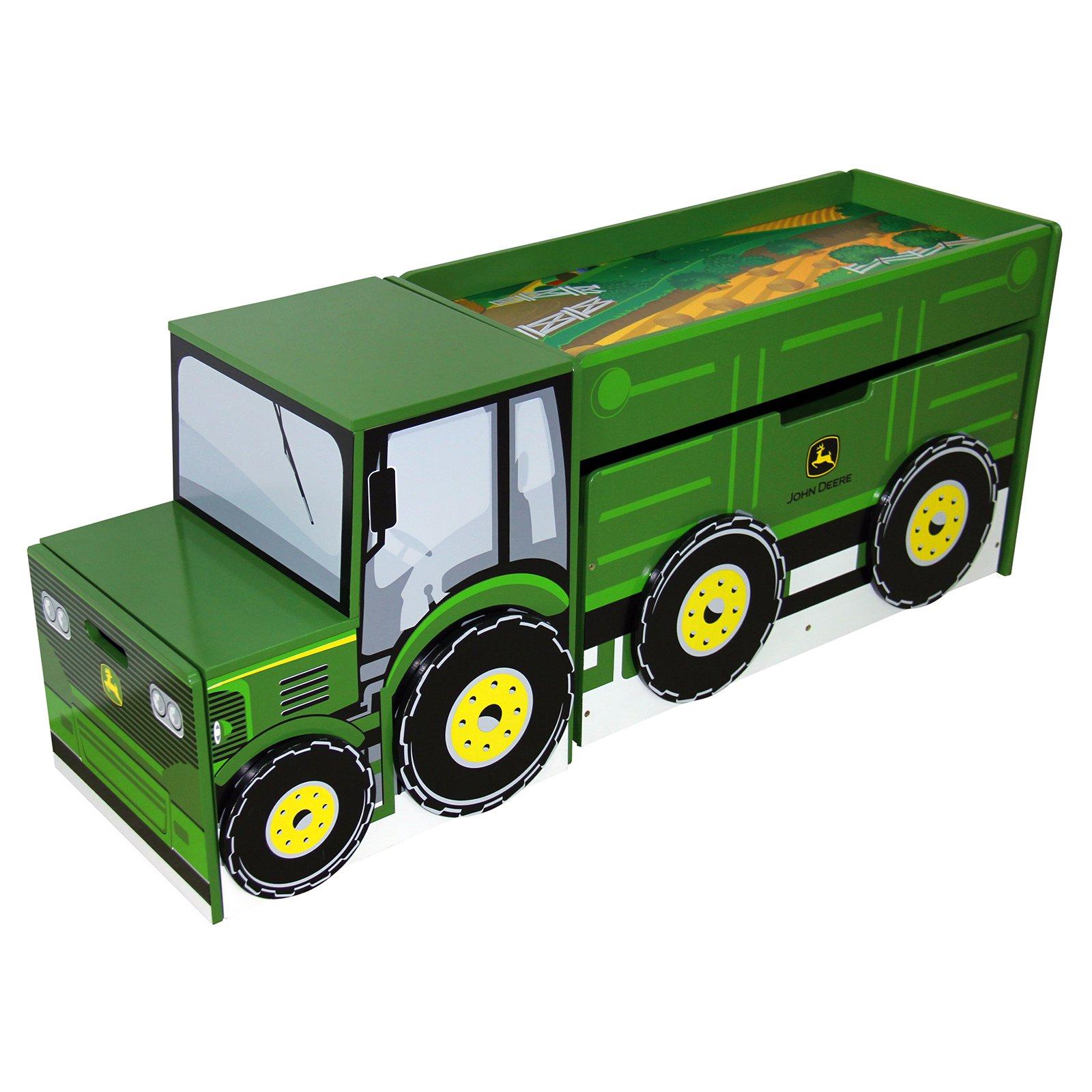 John Deere Tractor Toy Box Set