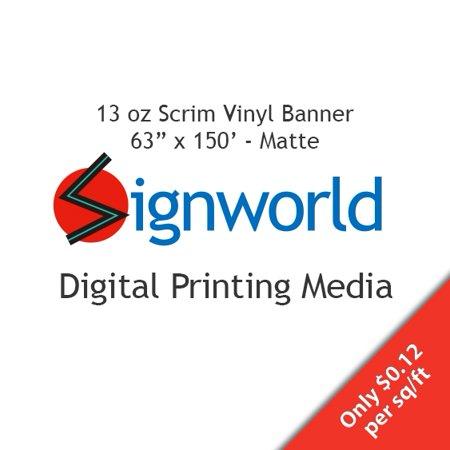 "13 oz Scrim Vinyl Banner - 63"" X 150"