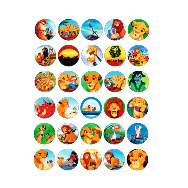 Fine 30 X Edible Cupcake Toppers The Lion King Party Collection Of Funny Birthday Cards Online Barepcheapnameinfo