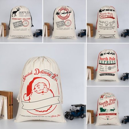 Hot Selling Christmas Cotton Linen Sack Drawstring Jewelry Bag Candy Pouch Favor Gift Holder - image 3 of 5