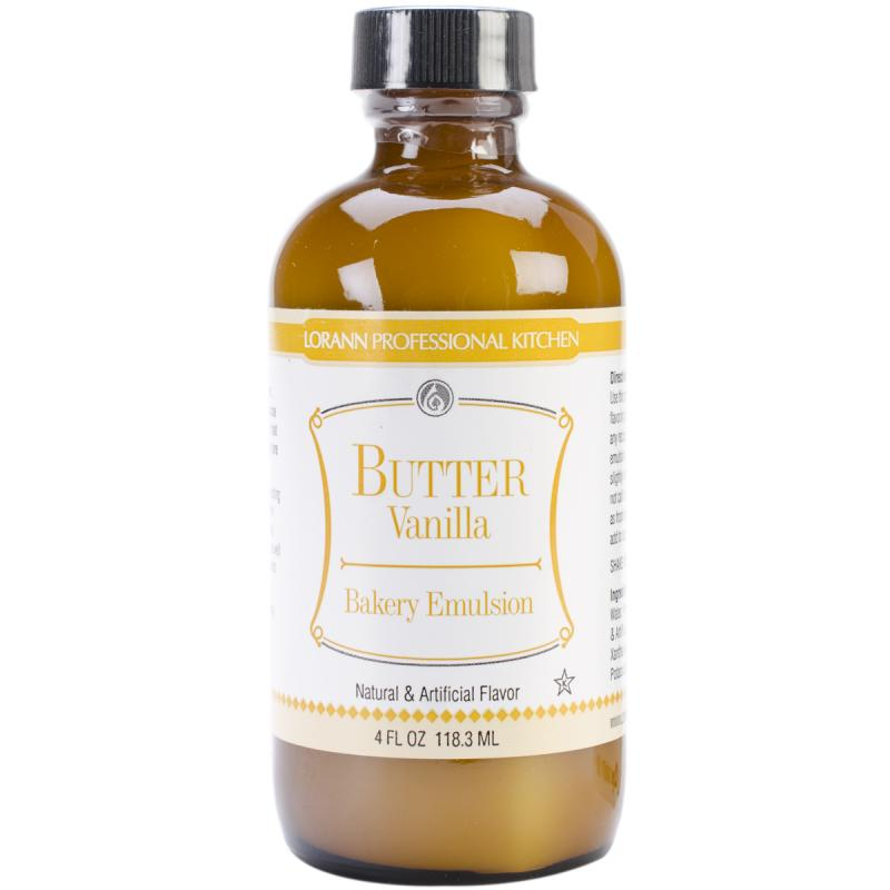 Bakery Emulsions Natural & Artificial Flavor 4oz-butter Vanilla