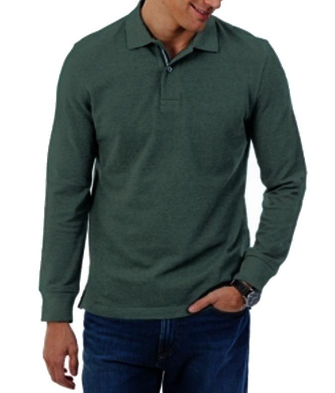 Nautica - Nautica NEW Dark Pine Green Mens Size 4XLT Long Sleeve Polo Shirt - Walmart.com