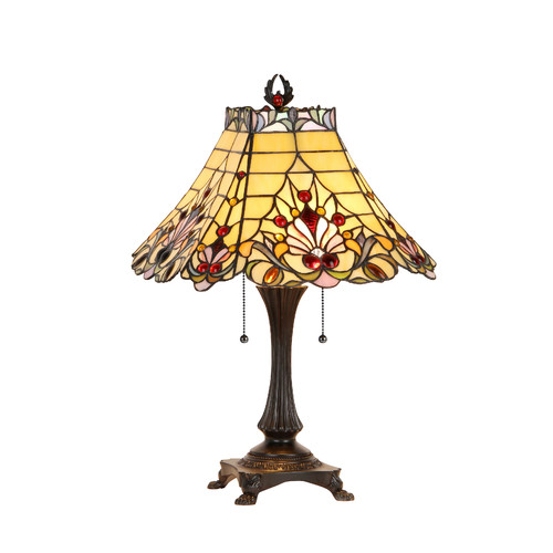 Chloe Lighting Victorian 23.8'' H Table Lamp with Empirel Shade