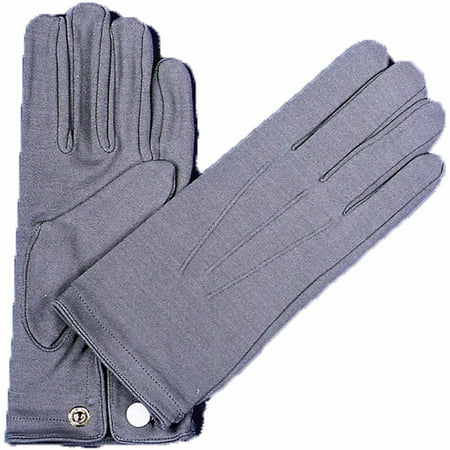 Grey Nylon Gloves with Snap Adult Halloween Accessory - Snap Judgment Halloween