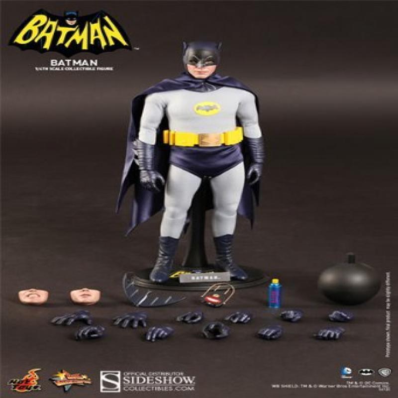 "Hot Toys DC Comics Batman (1966 Film) Adam West 1 6 Scale 12"" Figure by"