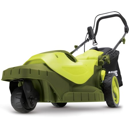 - Sun Joe MJ404E-360 Electric Lawn Mower | 3-Wheels | 16 Inch | 12 Amp | 360 Degrees Turn Radius