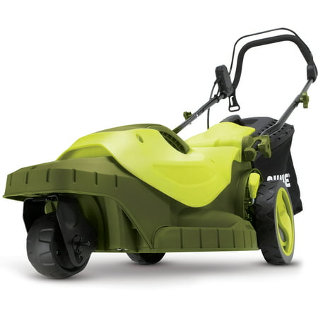 Sun Joe MJ404E-360 Electric Lawn Mower | 3-Wheels | 16 Inch | 12 Amp | 360 Degrees Turn
