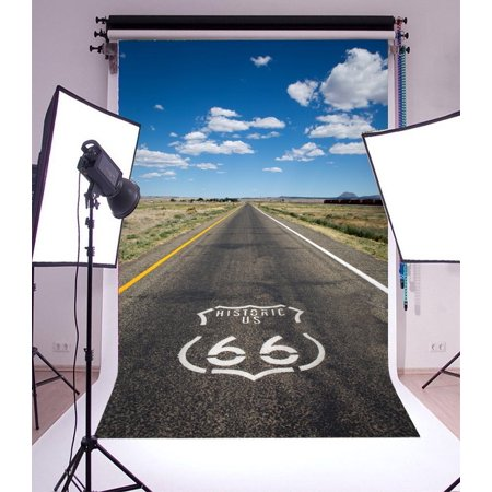 GreenDecor Polyster 5x7ft Photography Backdrop Historic US Route 66 in the State of Arizona Highway Sky Road Landscpe Scene Photo Background Children Baby Adults Portraits Backdrop](Halloween Portrait Backgrounds)
