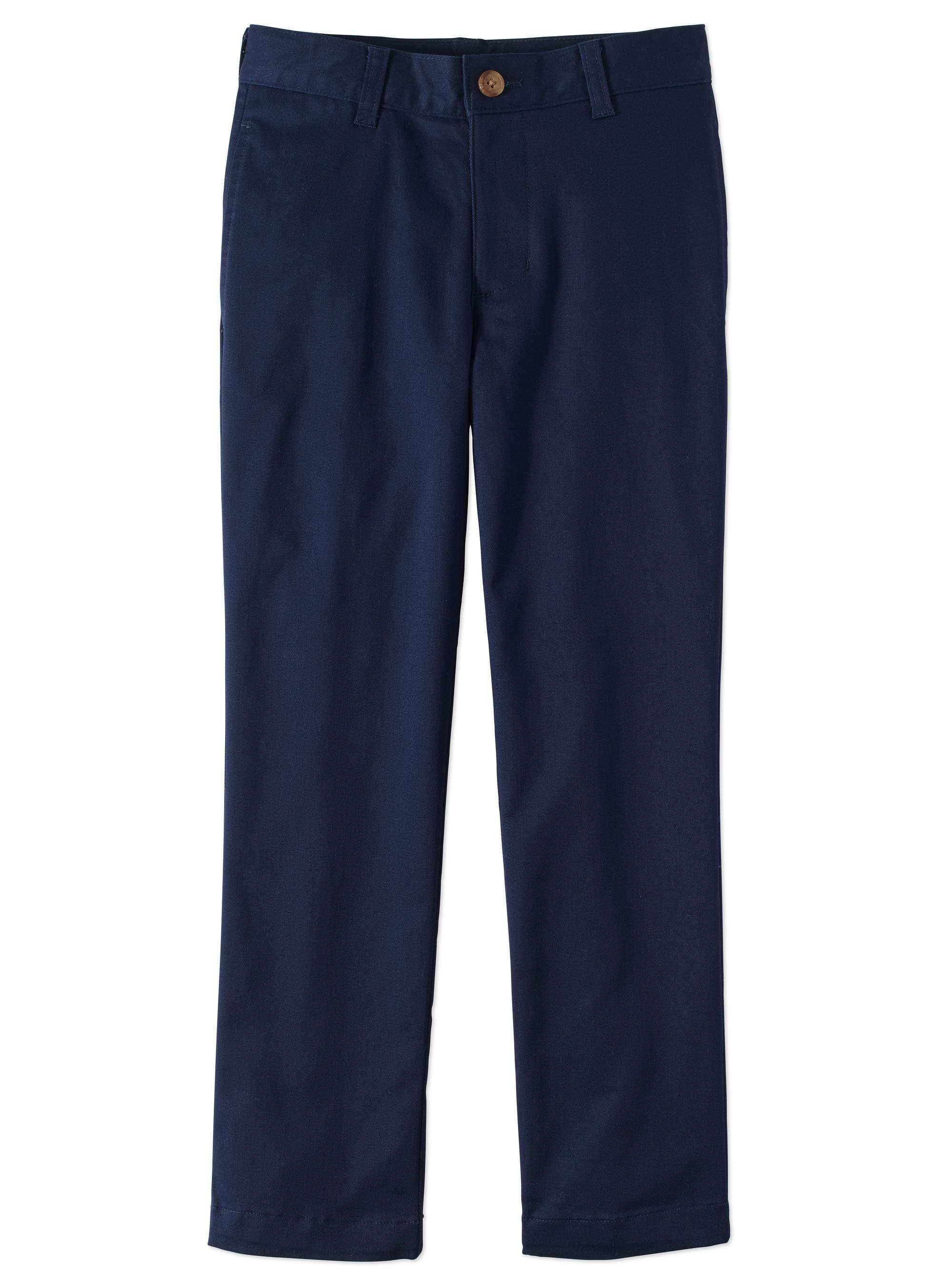 Boys School Uniform Super Stretch Soft Flat Front Pants